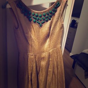 NWOT Gold Shoshanna Dress